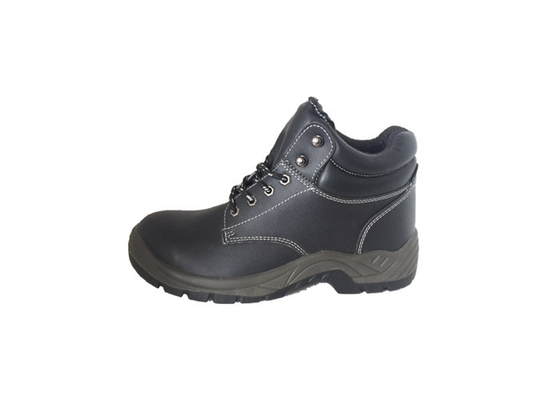 Cina Lingkungan Kerja PU Sole Safety Shoes, Steel Toe Security Guard Shoes Anti Static Distributor
