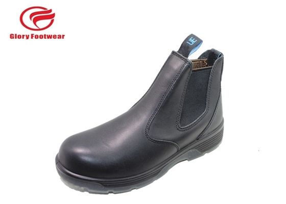 Cina Trendi Kendali Grain Black Leather Steel Toe Shoes Tanpa Laces Mesh / Canberra Mesh Distributor