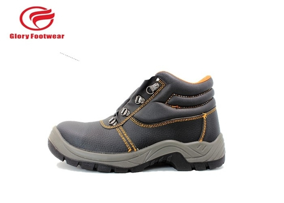 Split Kulit PU Sole Safety Shoes, Automobile Engineering Kerja Ankle Safety Shoes