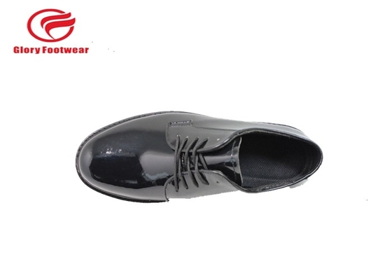 Cina Goodyear Welt Shiny Police Leather Shoes, Low Cut Petugas Polisi Sepatu Kerja Distributor