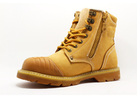 Tan / Brown Goodyear Welt Sepatu Safety, Steel Toe Genuine Leather Work Boots